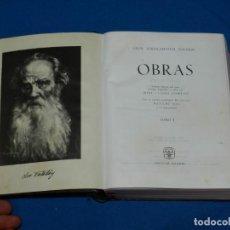 Libros antiguos: (M) LEON TOLSTOI - OBRAS TOMO 1 , EDT AGUILAR , MADRID 1964 , 3 EDC , BUEN ESTADO. Lote 132494558
