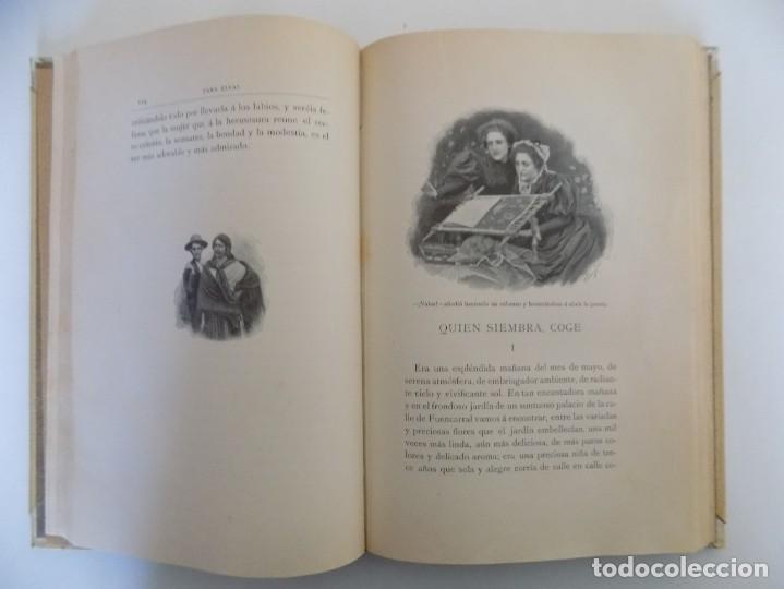 Libros antiguos: LIBRERIA GHOTICA. LUJOSA EDICIÓN MONTANER Y SIMON. PARA ELLAS.1896. GRABADOS. - Foto 4 - 231681320