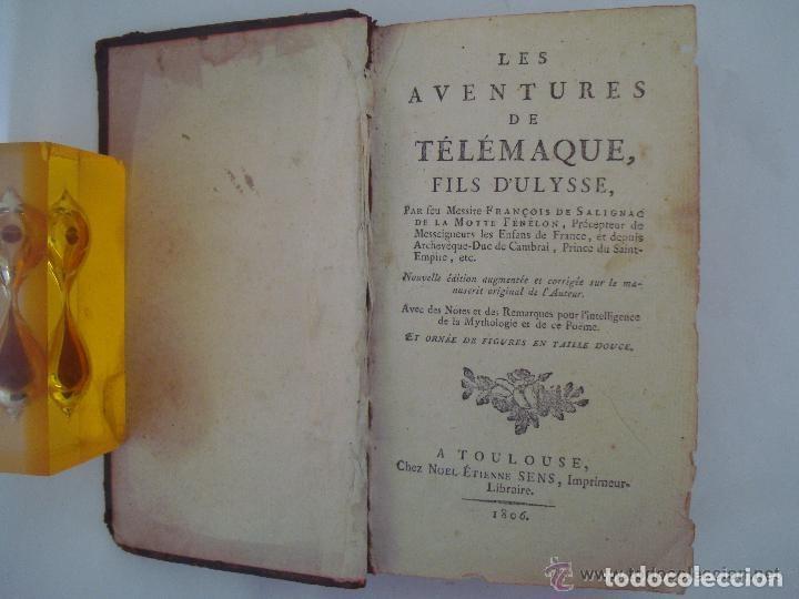 FENELON. LES AVENTURES DE TELÉMAQUE. FILS D ´ULYSSE. 1806. ILUSTRADO CON GRABADOS (Libros antiguos (hasta 1936), raros y curiosos - Literatura - Narrativa - Clásicos)