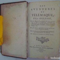 Libros antiguos: FENELON. LES AVENTURES DE TELÉMAQUE. FILS D ´ULYSSE. 1806. ILUSTRADO CON GRABADOS. Lote 133011570