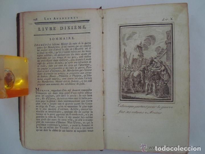 Libros antiguos: FENELON. LES AVENTURES DE TELÉMAQUE. FILS D ´ULYSSE. 1806. ILUSTRADO CON GRABADOS - Foto 6 - 133011570