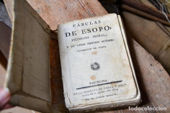 Libros antiguos: BARCELONA 1815 * S. XIX * FABULAS DE ESOPO FILOSOFO MORAL Y DE OTROS AUTORES * GRABADOS ENTRE TEXTO - Foto 2 - 133248962