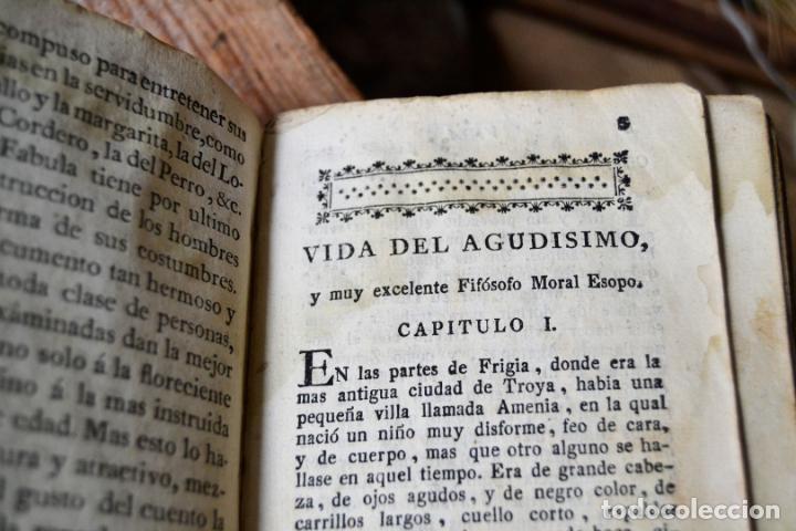 Libros antiguos: BARCELONA 1815 * S. XIX * FABULAS DE ESOPO FILOSOFO MORAL Y DE OTROS AUTORES * GRABADOS ENTRE TEXTO - Foto 4 - 133248962