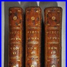 Libros antiguos: AÑO 1772: OBRAS DE ROUSSEAU. 3 TOMOS DEL SIGLO XVIII.. Lote 133348514