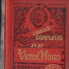 Libros antiguos: VICTOR HUGO : LOS MISERABLES (SEIX, 1903) OCHO TOMOS EN CUATRO VOLÚMENES. CON GRABADOS.. Lote 134294602