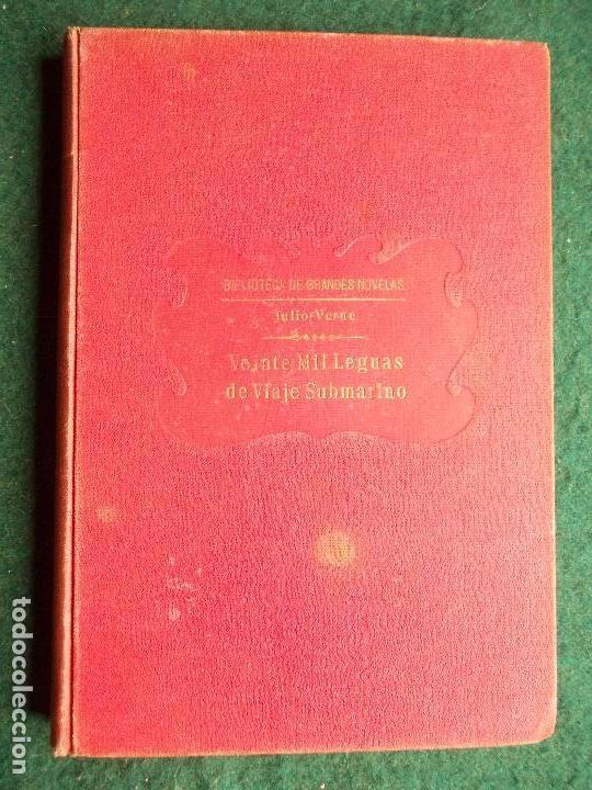 VEINTE MIL LEGUAS DE VIAJE SUBMARINO JULIO VERNE 1.933 EDITORIAL SOPENA (Libros antiguos (hasta 1936), raros y curiosos - Literatura - Narrativa - Clásicos)