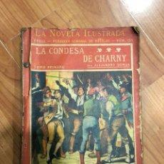 Libros antiguos: LA CONDESA DE CHARNY - NOVELA ILUSTRADA- ALEJANDRO DUMAS 4 TOMOS. Lote 135254873