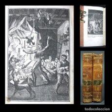 Libros antiguos: AÑO 1801 QUIJOTE COMPLETO 4 TOMOS EN 2 VOLÚMENES GRABADOS CERVANTES DON QUIXOTE DE LA MANCHA. Lote 135625894