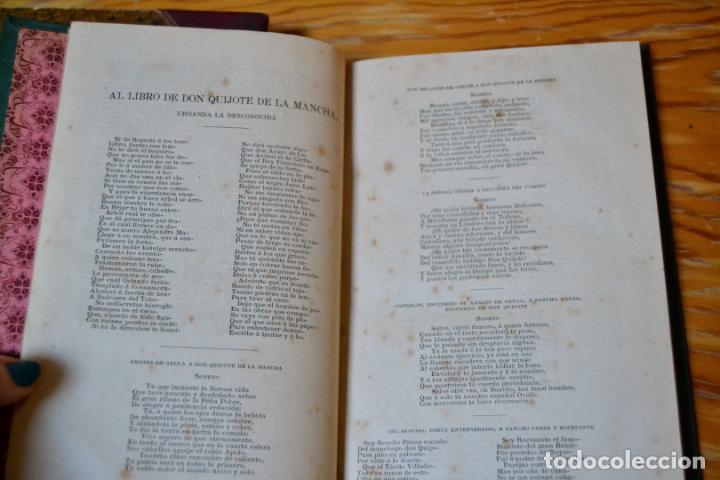 Libros antiguos: EL INGENIOSO HIDALGO DON QUIJOTE DE LA MANCHA - CERVANTES - AÑO 1881 - PRIMERA EDICION ECONOMICA. - Foto 8 - 135938094
