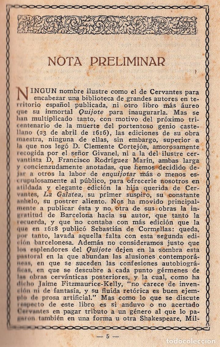 Libros antiguos: MIGUEL DE CERVANTES LA GALATEA MAUCCI 1916 1ª EDICIÓN (?) DIBUJOS ALSINA MUNNÉ LUIS CARLOS VIADA - Foto 6 - 136059102