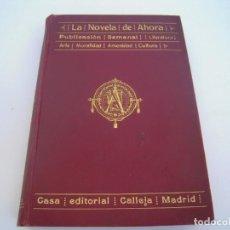 Libros antiguos: TOMO XII LA NOVELA DE AHORA CALLEJA. Lote 137227358