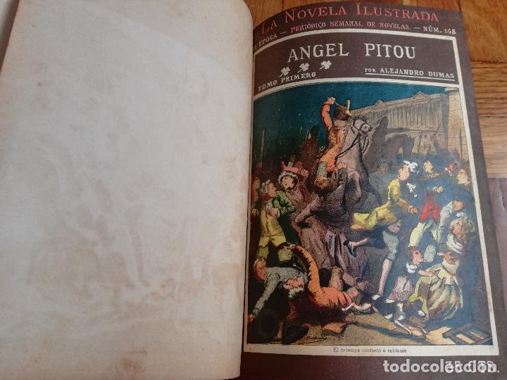 ANTIGUO LIBRO LA NOVELA ILUSTRADA ANGEL PITOU POR ALEJANDRO DUMAS - 3 TOMOS - VICENTE BLASCO IBAÑEZ (Libros antiguos (hasta 1936), raros y curiosos - Literatura - Narrativa - Clásicos)