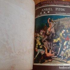 Libros antiguos: ANTIGUO LIBRO LA NOVELA ILUSTRADA ANGEL PITOU POR ALEJANDRO DUMAS - 3 TOMOS - VICENTE BLASCO IBAÑEZ. Lote 137235534
