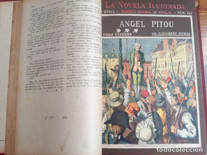 Libros antiguos: ANTIGUO LIBRO LA NOVELA ILUSTRADA ANGEL PITOU POR ALEJANDRO DUMAS - 3 TOMOS - VICENTE BLASCO IBAÑEZ - Foto 4 - 137235534