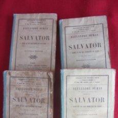 Libros antiguos: SALVATOR, SUITE ET FIN DES MOHICANS DE PARIS. ALEXANDRE DUMAS 1865. VOLS. I-III-IV-V. Lote 137252710