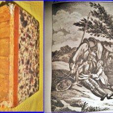 Libros antiguos: AÑO 1827: DON QUIJOTE DE LA MANCHA. EN ESPAÑOL. 2 TOMOS EN 1 VOLUMEN ILUSTRADO DE 513 PÁGINAS. Lote 137361994