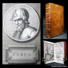 Libros antiguos: AÑO 1735 ANTIGUA GRECIA Y ROMA PLUTARCO VIDAS PARALELAS FRONTISPICIO Y 7 GRABADOS ANIBAL CIRO. Lote 137572386