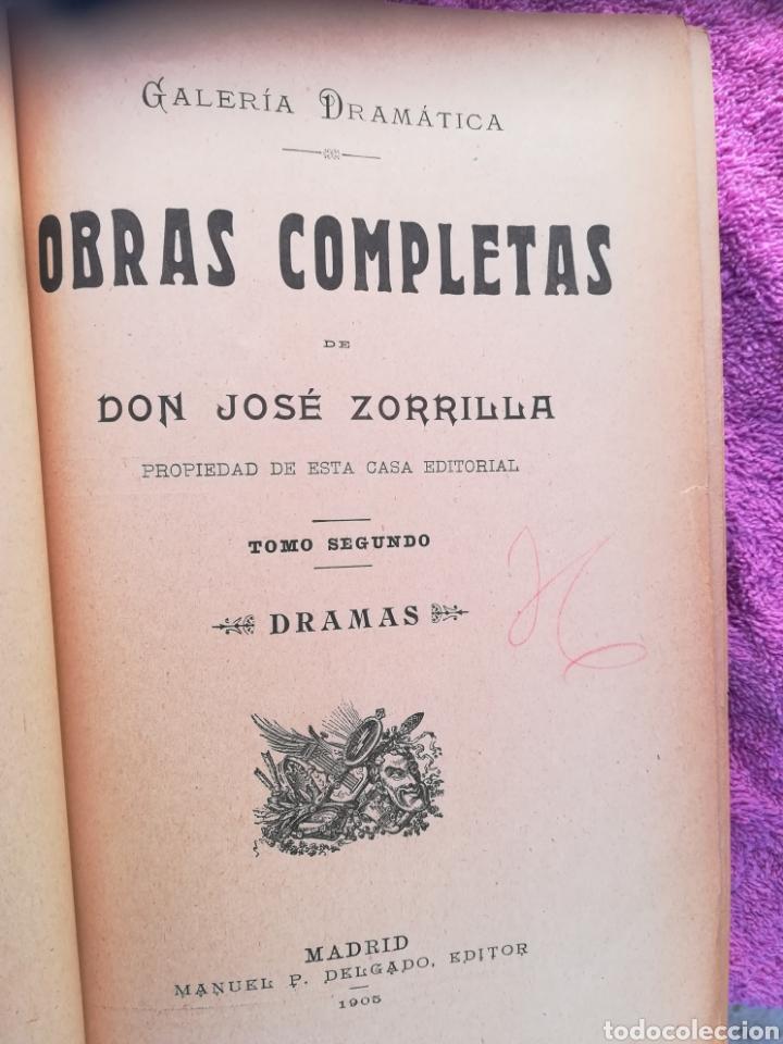 Libros antiguos: Obras completas de José Zorrilla. Galería Dramática. 4 tomos. Manuel P. Delgado, editor, Madrid - Foto 2 - 137608386