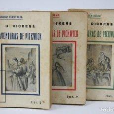 Libri antichi: TOMOS I, II Y III - AVENTURAS DE PICKWICK / C.DICKENS - COLECCIÓN ESMERALDA -TORIBIO TABERNER, 1905. Lote 138097586