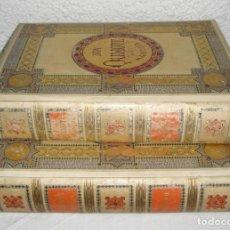 Libros antiguos: CERVANTES, DON QUIJOTE 1ª ED MONTANER Y SIMON 1880 , IL. POR BALACA Y PELLICER. ENC. LUJOSA. Lote 138551154