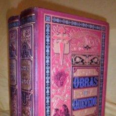 Libros antiguos: OBRAS EN PROSA Y VERSO DE D.FRANCISCO DE QUEVEDO - VALENCIA AÑO 1882 - IN-FOLIO - ILUSTRADA.. Lote 140170966