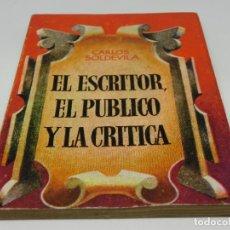 Libros antiguos: ENCICLOPEDIA PULGA - CARLOS SOLDEVILA - EL ESCRITOR, EL PUBLICO Y LA CRÍTICA Nº 365. Lote 140451266