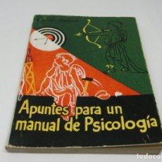 Libros antiguos: ENCICLOPEDIA PULGA - EDUARDO JARDIEL PONCELA - APUNTES PARA UN MANUAL DE PSICOLOGÍA - Nº 215. Lote 140451386