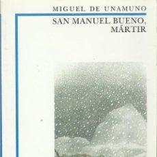 Libros antiguos: SAN MANUEL BUENO MARTIR. Lote 184609531