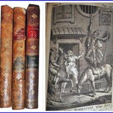 Libros antiguos: AÑO 1799? DON QUIJOTE DE LA MANCHA. 3 TOMOS ILUSTRADOS MUY ANTIGUOS. . Lote 142810534