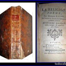 Libros antiguos: AÑO 1763: LIBRO DE RACINE DEL SIGLO XVIII.. Lote 142813442