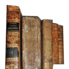 Libros antiguos: LOTE DE LIBROS ANTIGUOS. 1 DEL SIGLO XVIII Y 4 DEL XIX. Lote 142822654