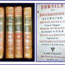 Libros antiguos: AÑO 1740: CERVANTES: PERSILES Y SIGISMUNDA. 4 TOMOS DEL SIGLO XVIII.. Lote 142884438