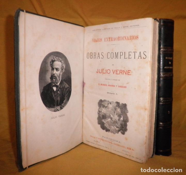 OBRAS COMPLETAS DE JULIO VERNE - 1ª EDICION ESPAÑOLA AÑO 1875 - ILUSTRADOS - EXCEPCIONAL. (Libros antiguos (hasta 1936), raros y curiosos - Literatura - Narrativa - Clásicos)