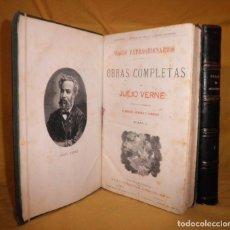 Libros antiguos: OBRAS COMPLETAS DE JULIO VERNE - 1ª EDICION ESPAÑOLA AÑO 1875 - ILUSTRADOS - EXCEPCIONAL.. Lote 143189410