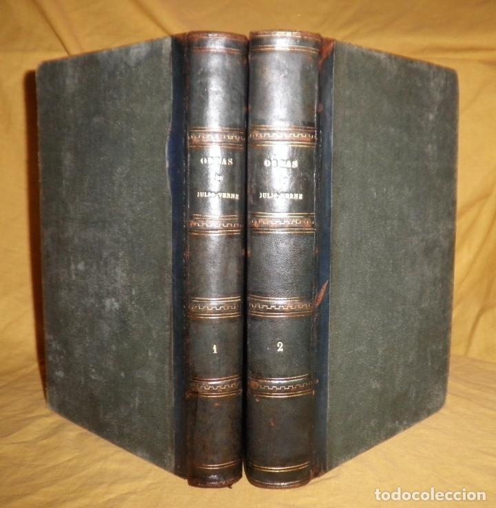 Libros antiguos: OBRAS COMPLETAS DE JULIO VERNE - 1ª EDICION ESPAÑOLA AÑO 1875 - ILUSTRADOS - EXCEPCIONAL. - Foto 2 - 143189410