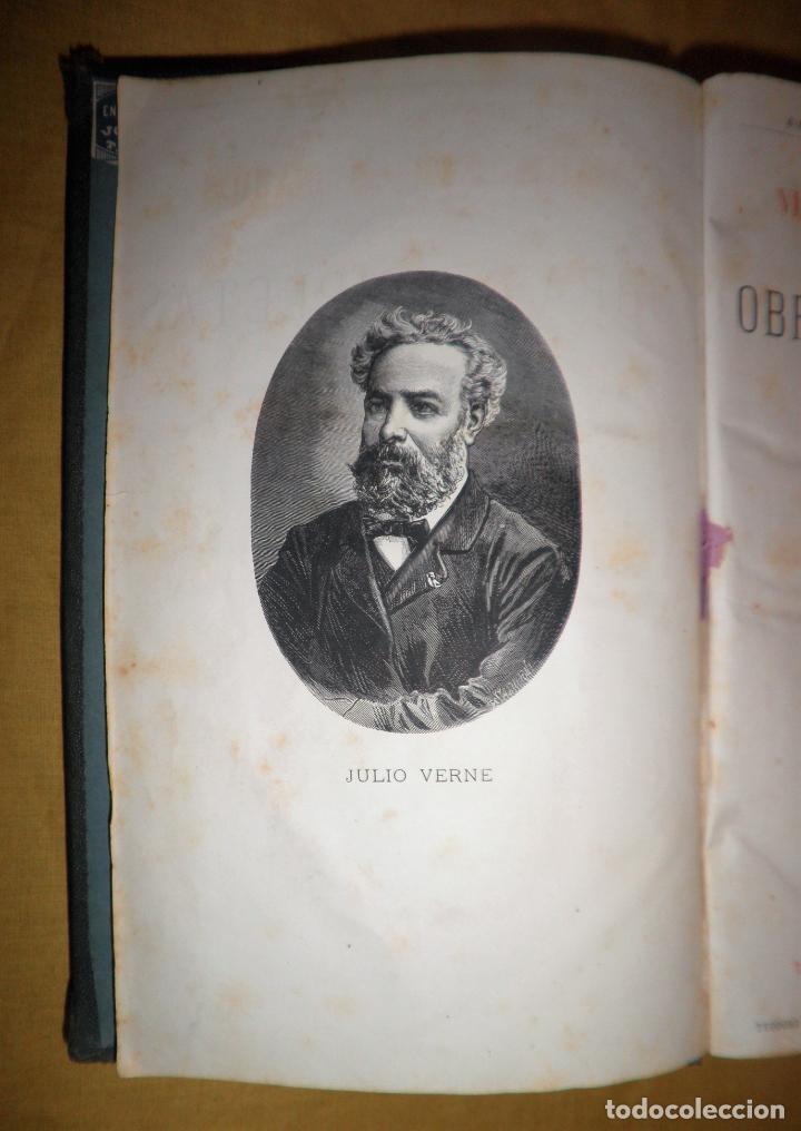 Libros antiguos: OBRAS COMPLETAS DE JULIO VERNE - 1ª EDICION ESPAÑOLA AÑO 1875 - ILUSTRADOS - EXCEPCIONAL. - Foto 3 - 143189410