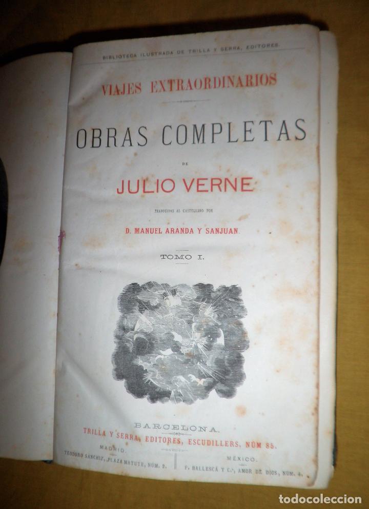 Libros antiguos: OBRAS COMPLETAS DE JULIO VERNE - 1ª EDICION ESPAÑOLA AÑO 1875 - ILUSTRADOS - EXCEPCIONAL. - Foto 4 - 143189410