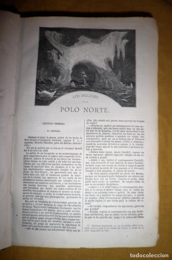 Libros antiguos: OBRAS COMPLETAS DE JULIO VERNE - 1ª EDICION ESPAÑOLA AÑO 1875 - ILUSTRADOS - EXCEPCIONAL. - Foto 7 - 143189410