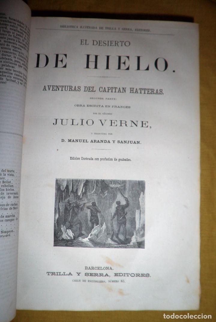 Libros antiguos: OBRAS COMPLETAS DE JULIO VERNE - 1ª EDICION ESPAÑOLA AÑO 1875 - ILUSTRADOS - EXCEPCIONAL. - Foto 8 - 143189410