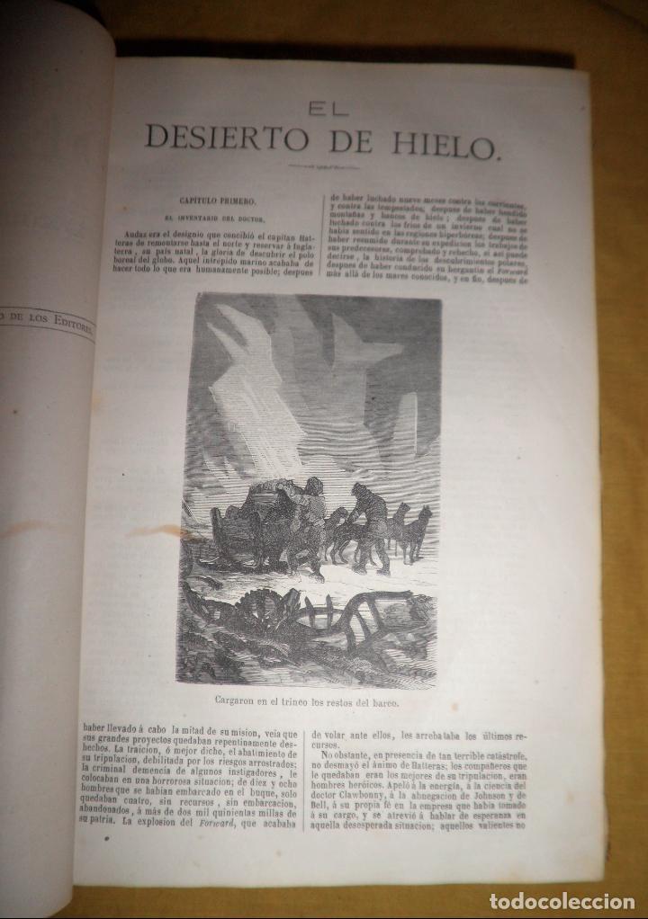 Libros antiguos: OBRAS COMPLETAS DE JULIO VERNE - 1ª EDICION ESPAÑOLA AÑO 1875 - ILUSTRADOS - EXCEPCIONAL. - Foto 9 - 143189410