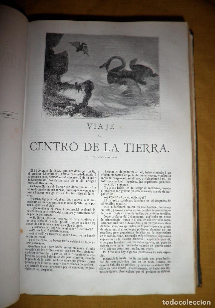 Libros antiguos: OBRAS COMPLETAS DE JULIO VERNE - 1ª EDICION ESPAÑOLA AÑO 1875 - ILUSTRADOS - EXCEPCIONAL. - Foto 11 - 143189410