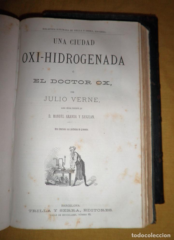 Libros antiguos: OBRAS COMPLETAS DE JULIO VERNE - 1ª EDICION ESPAÑOLA AÑO 1875 - ILUSTRADOS - EXCEPCIONAL. - Foto 12 - 143189410