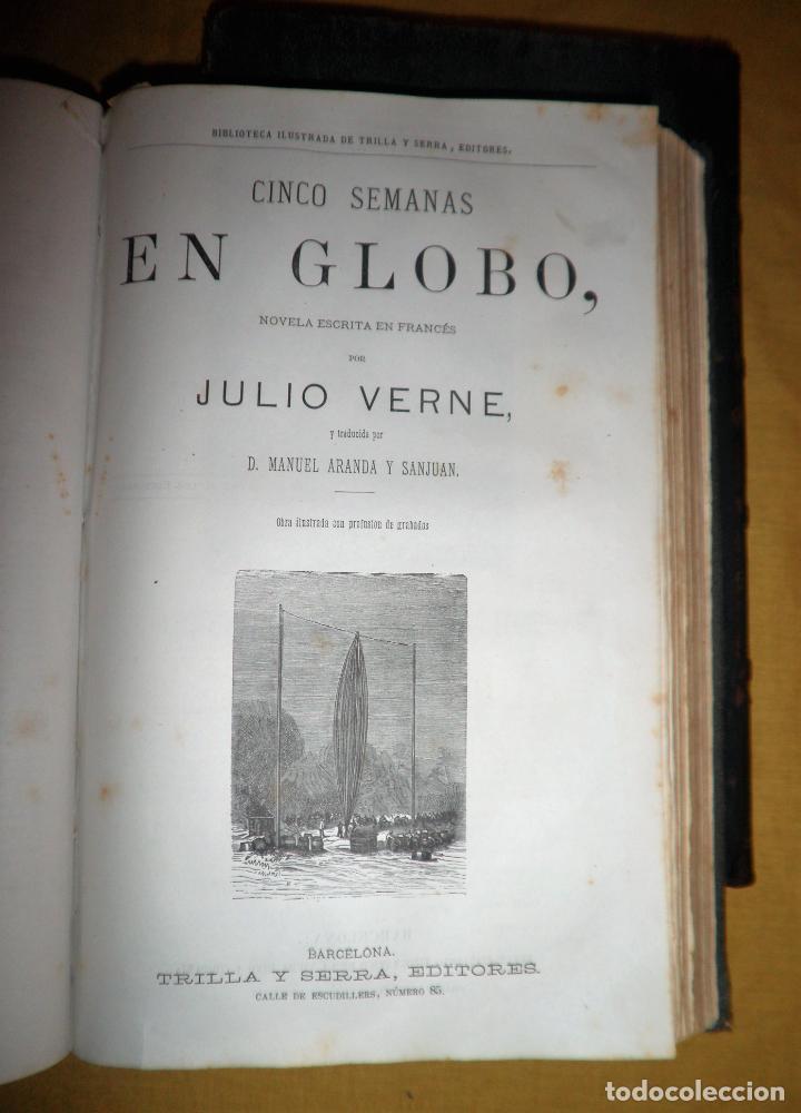 Libros antiguos: OBRAS COMPLETAS DE JULIO VERNE - 1ª EDICION ESPAÑOLA AÑO 1875 - ILUSTRADOS - EXCEPCIONAL. - Foto 13 - 143189410