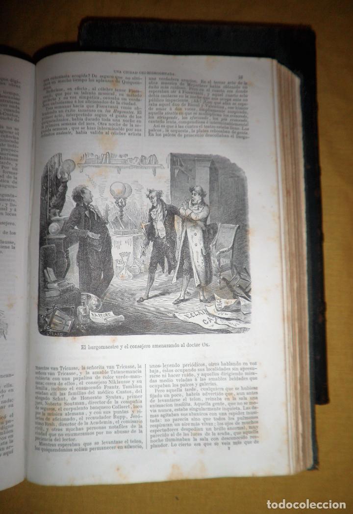 Libros antiguos: OBRAS COMPLETAS DE JULIO VERNE - 1ª EDICION ESPAÑOLA AÑO 1875 - ILUSTRADOS - EXCEPCIONAL. - Foto 14 - 143189410