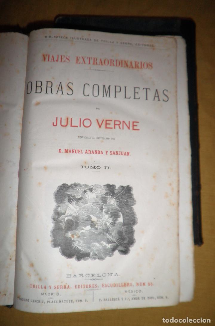 Libros antiguos: OBRAS COMPLETAS DE JULIO VERNE - 1ª EDICION ESPAÑOLA AÑO 1875 - ILUSTRADOS - EXCEPCIONAL. - Foto 17 - 143189410