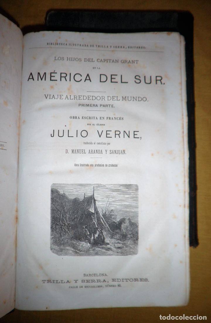 Libros antiguos: OBRAS COMPLETAS DE JULIO VERNE - 1ª EDICION ESPAÑOLA AÑO 1875 - ILUSTRADOS - EXCEPCIONAL. - Foto 18 - 143189410