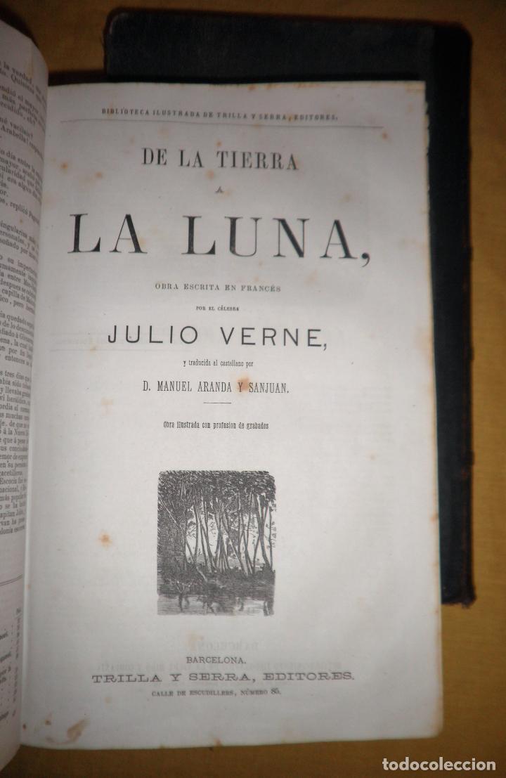 Libros antiguos: OBRAS COMPLETAS DE JULIO VERNE - 1ª EDICION ESPAÑOLA AÑO 1875 - ILUSTRADOS - EXCEPCIONAL. - Foto 19 - 143189410