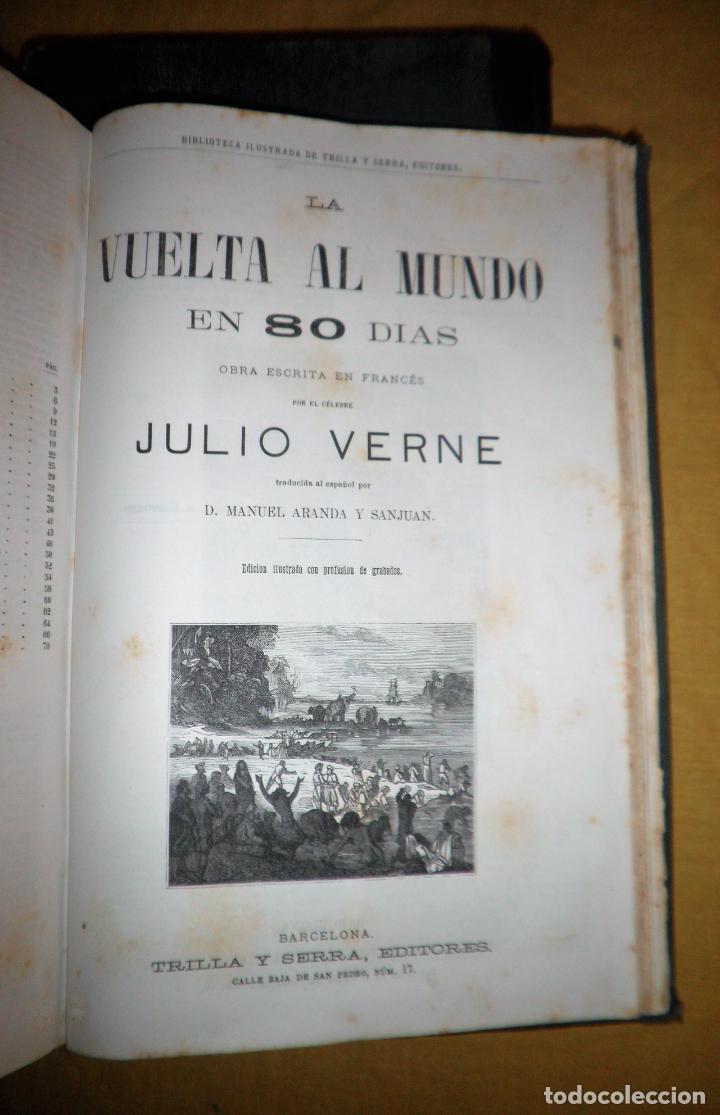 Libros antiguos: OBRAS COMPLETAS DE JULIO VERNE - 1ª EDICION ESPAÑOLA AÑO 1875 - ILUSTRADOS - EXCEPCIONAL. - Foto 24 - 143189410