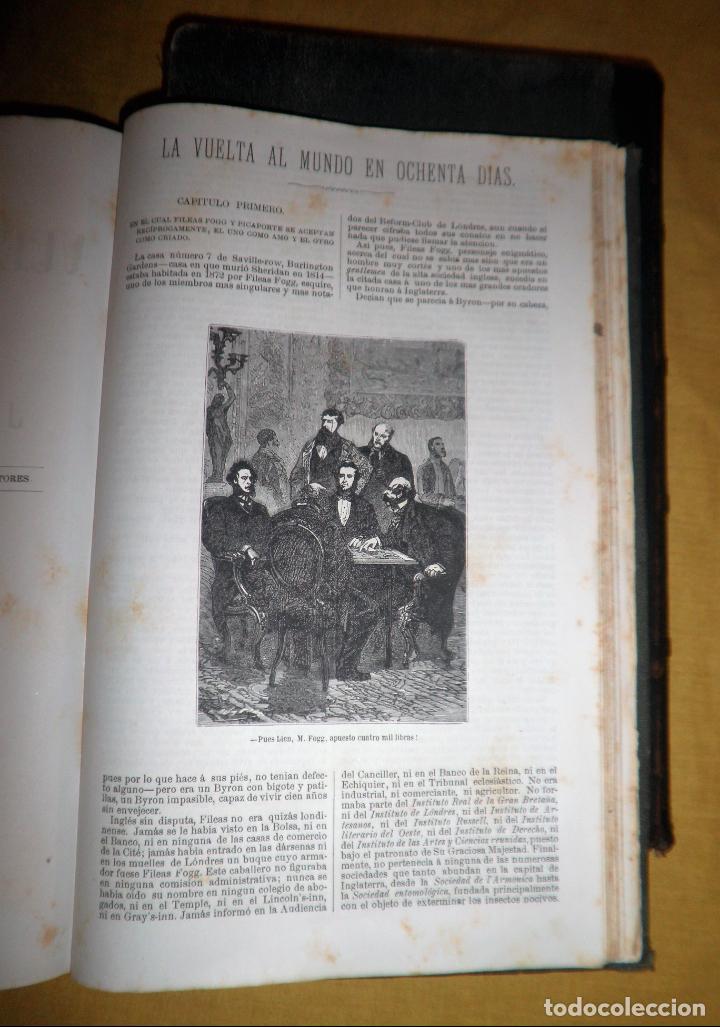 Libros antiguos: OBRAS COMPLETAS DE JULIO VERNE - 1ª EDICION ESPAÑOLA AÑO 1875 - ILUSTRADOS - EXCEPCIONAL. - Foto 25 - 143189410