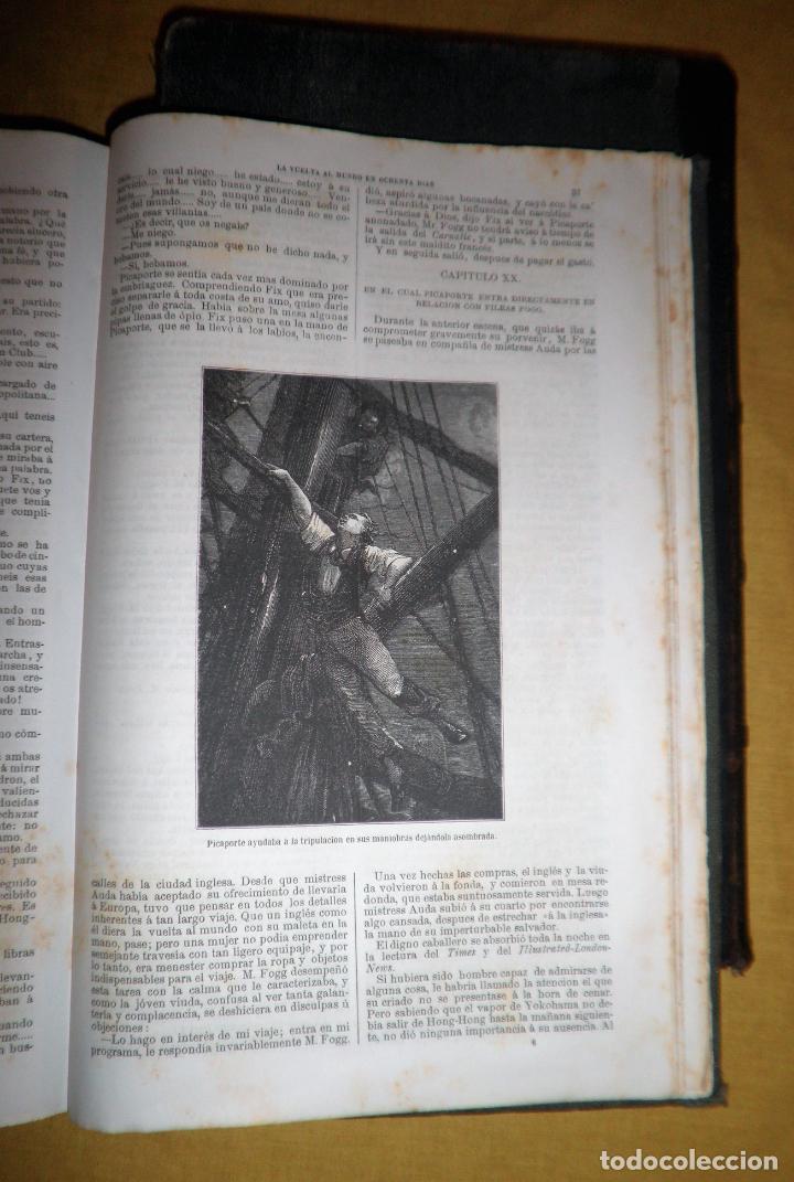 Libros antiguos: OBRAS COMPLETAS DE JULIO VERNE - 1ª EDICION ESPAÑOLA AÑO 1875 - ILUSTRADOS - EXCEPCIONAL. - Foto 26 - 143189410